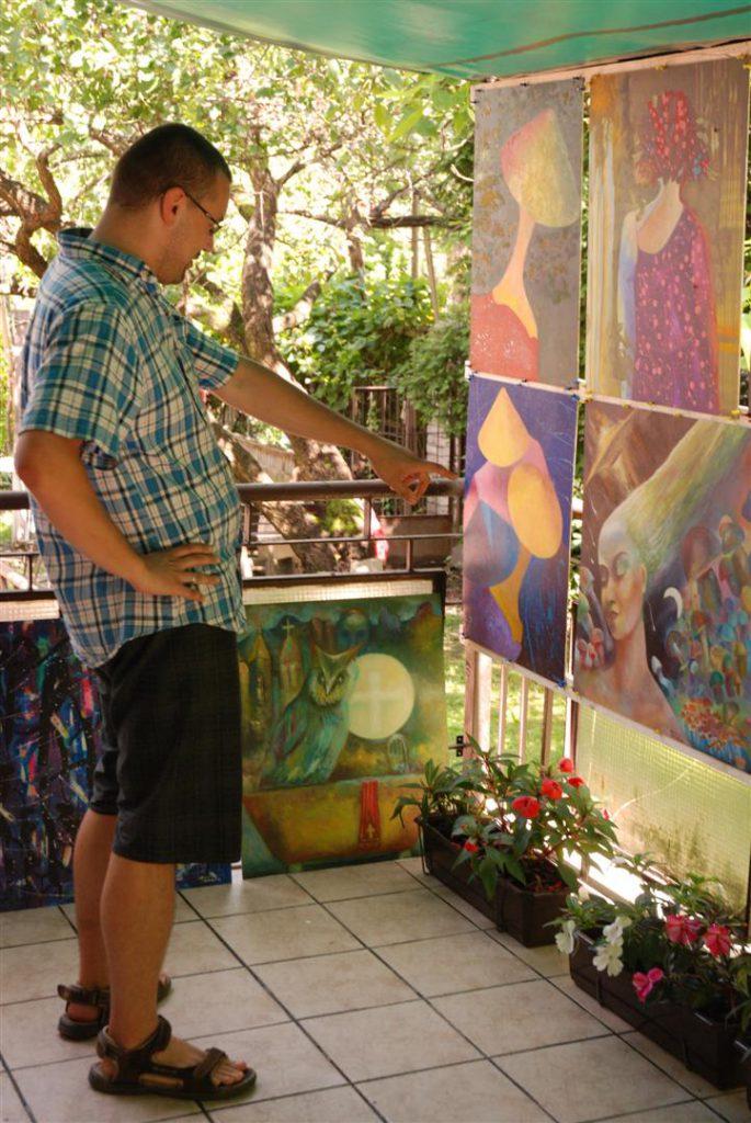 Wystawa w plenerze i wernisaż wystawy obrazów nowoczesnych