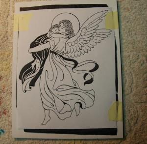 Anioł Stróż z dzieckiem na ręku