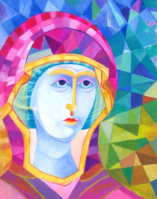 ikona matki Bożej bez Dzieciątka Surowa Atena