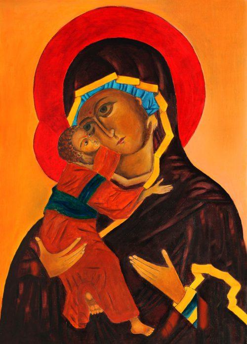 Ikona Matki Bożej Włodzimierska obraz olejny