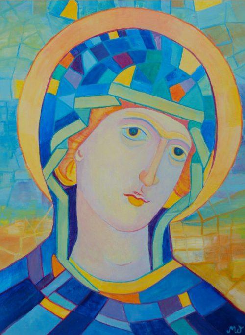 Obraz Matki Jezusa Madonna Niebieska