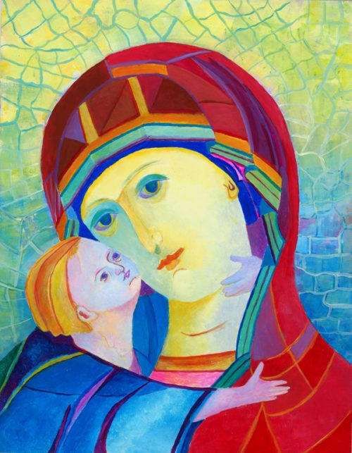 Polskie Madonny - obrazy olejne z mojej autorskiej serii ikon Madonny z Dzieciątkiem