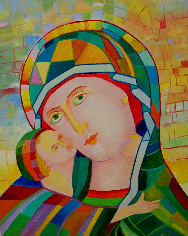 Obrazy religijne na ścianę - Madonna z Dzieciątkiem obraz religijny