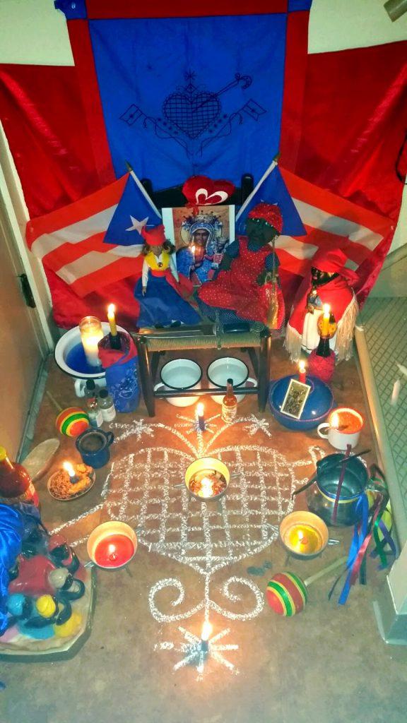 erzulie dantor veve voodoo art Haiti New Orlean