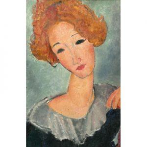 Modigliani Amedeo obraz kobieta-z-rudymi-wlosami