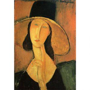 Obraz Modigliani Amedeo portret kobiety w kapeluszu Jeanne Hebuterne