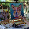 portret olejny psa