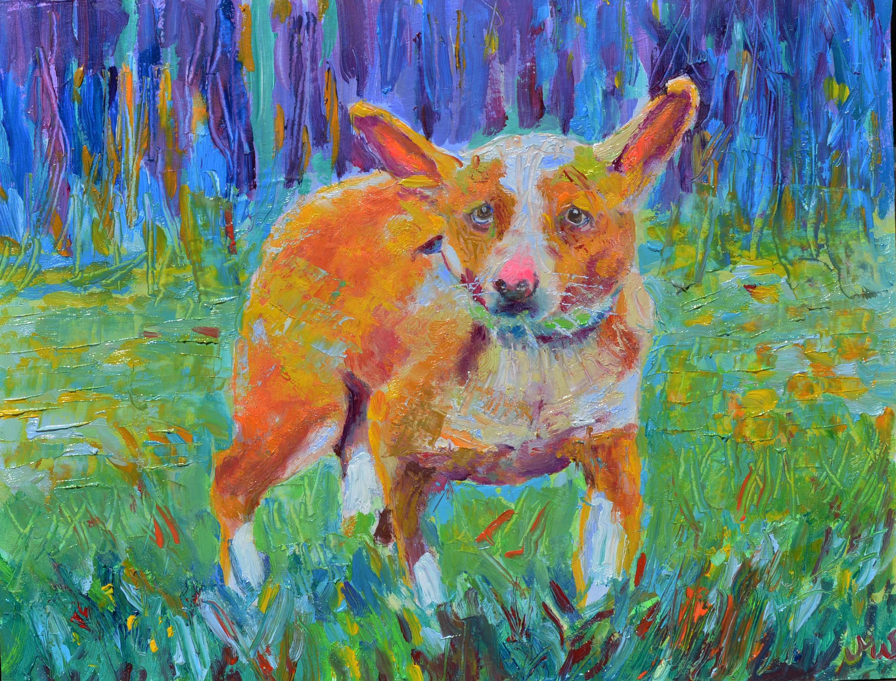Portret Psa Na Zamówienie Mały Rozmiar A4 Obrazy Olejne Na
