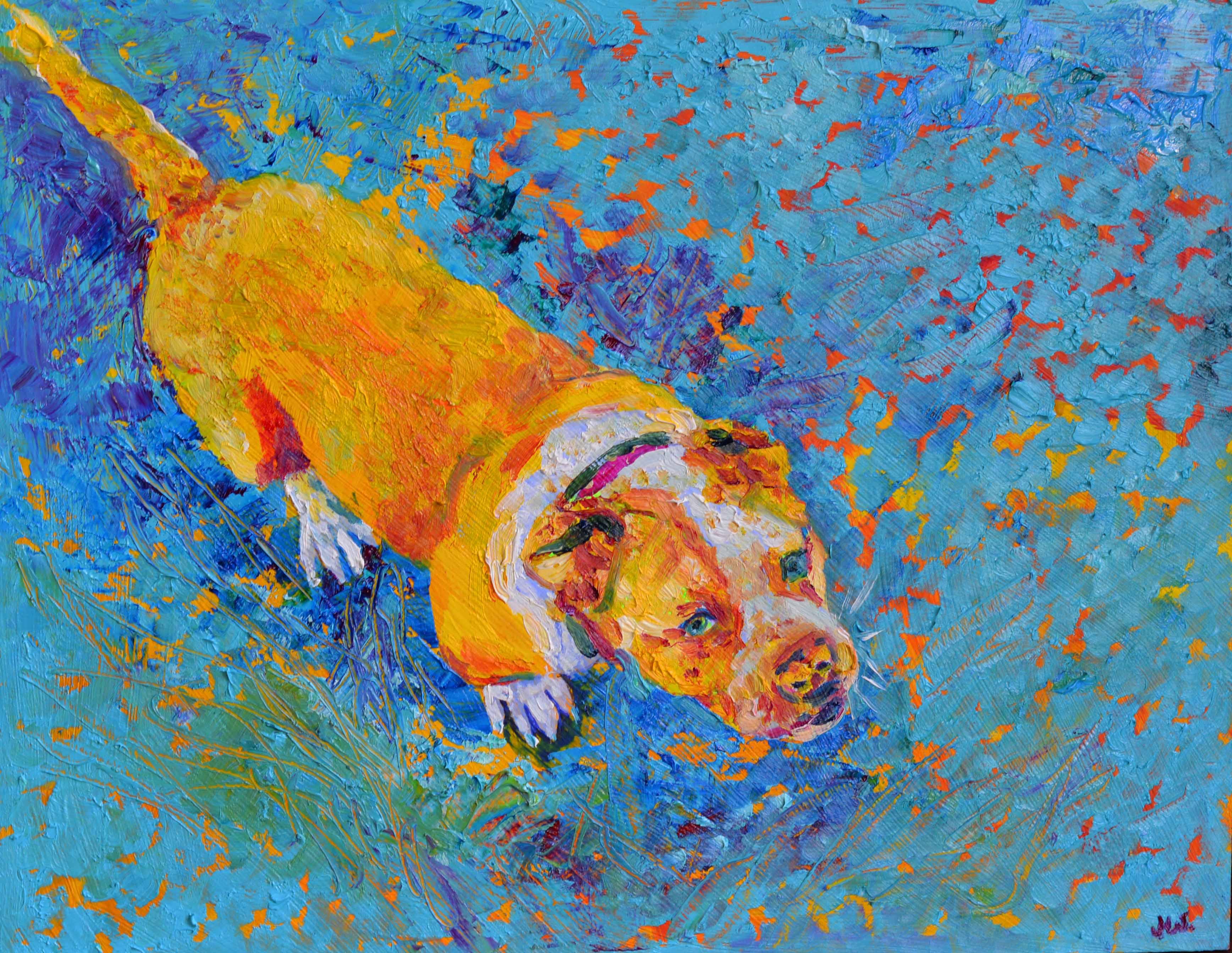 portret psa ze zdjęcia olej na płótnie