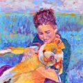 portret zwierzęcia i jego właściciela