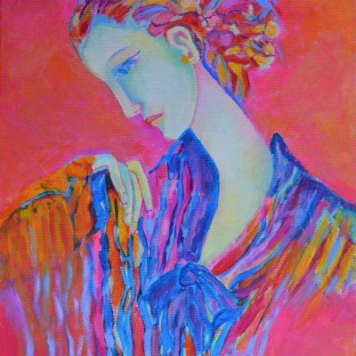 Obraz na płótnie kobieta w różach: Lady Pink
