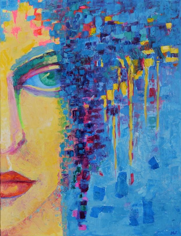 Obrazy olejne postacie: Angelika