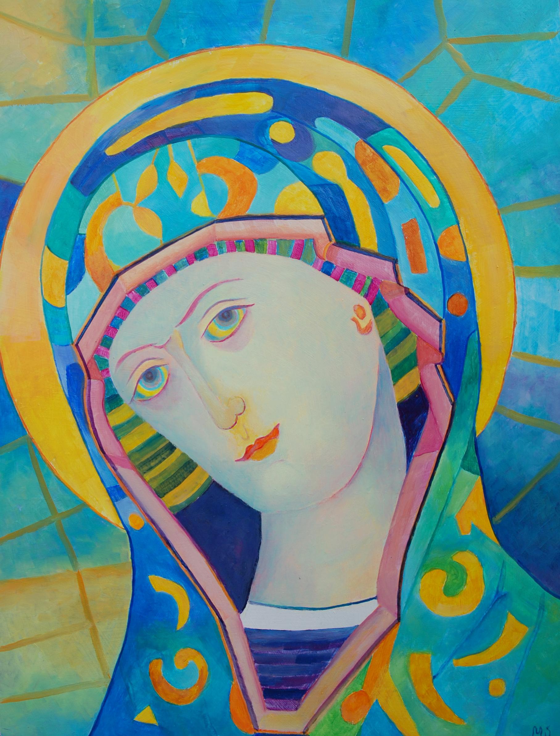 Matka Boska obrazy - obraz olejny