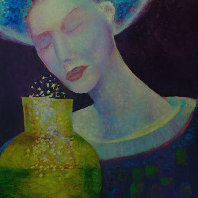 Obraz olejny Dziewczyna z dzbanem