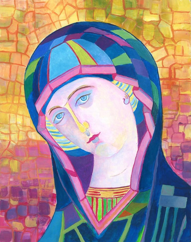 Nowoczesne obrazy sakralne wizerunek Matki bożej