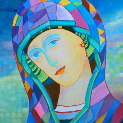 Matka Boża obrazki - obraz olejny
