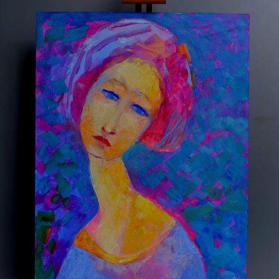 Portret kobiety w stylu Modigliani