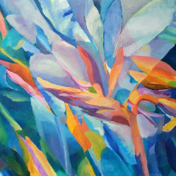 Obrazy olejne kwiaty strelicje