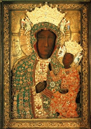 Ikona Matki Boskiej Częstochowskiej w sukni
