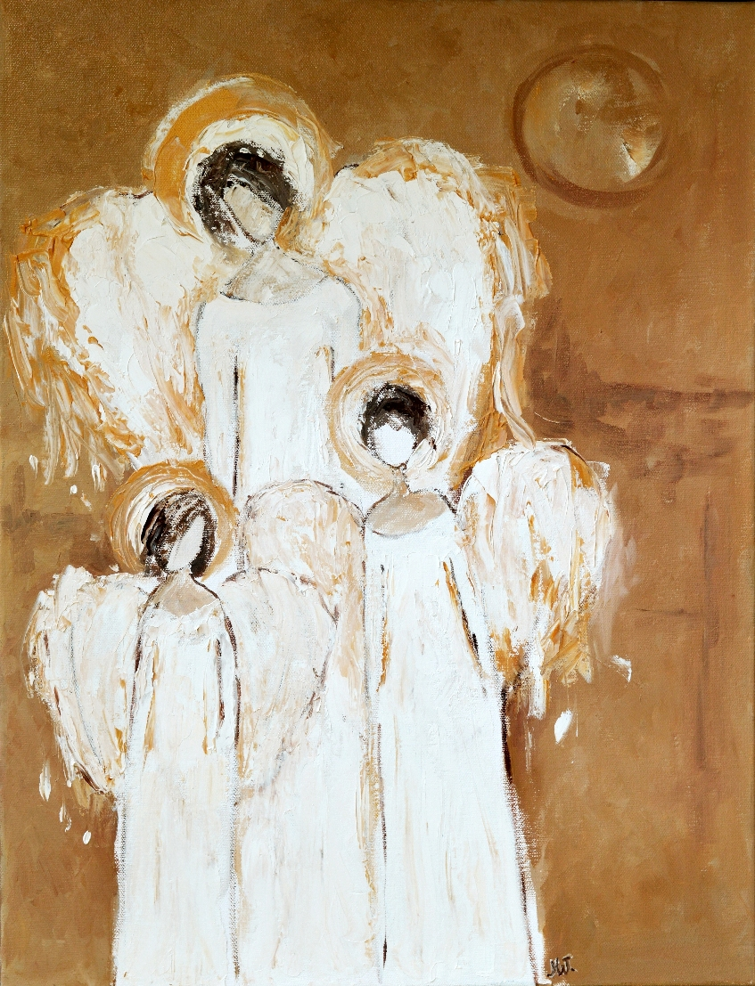 Trzy anioły obraz z aniołami