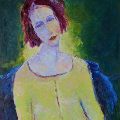Kobieta akt siedzący olej na płótnie