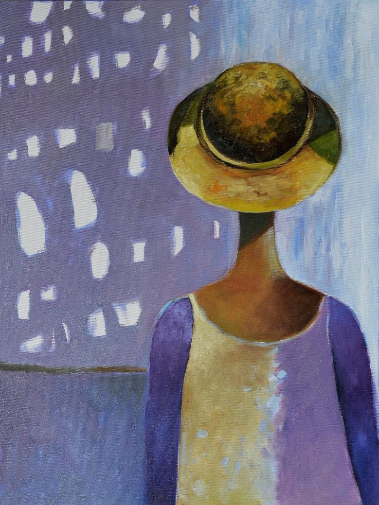 obraz w szarosciach portret kobiety minimalizm
