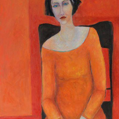 Obrazy na płótnie postacie Obraz olejny czerwony