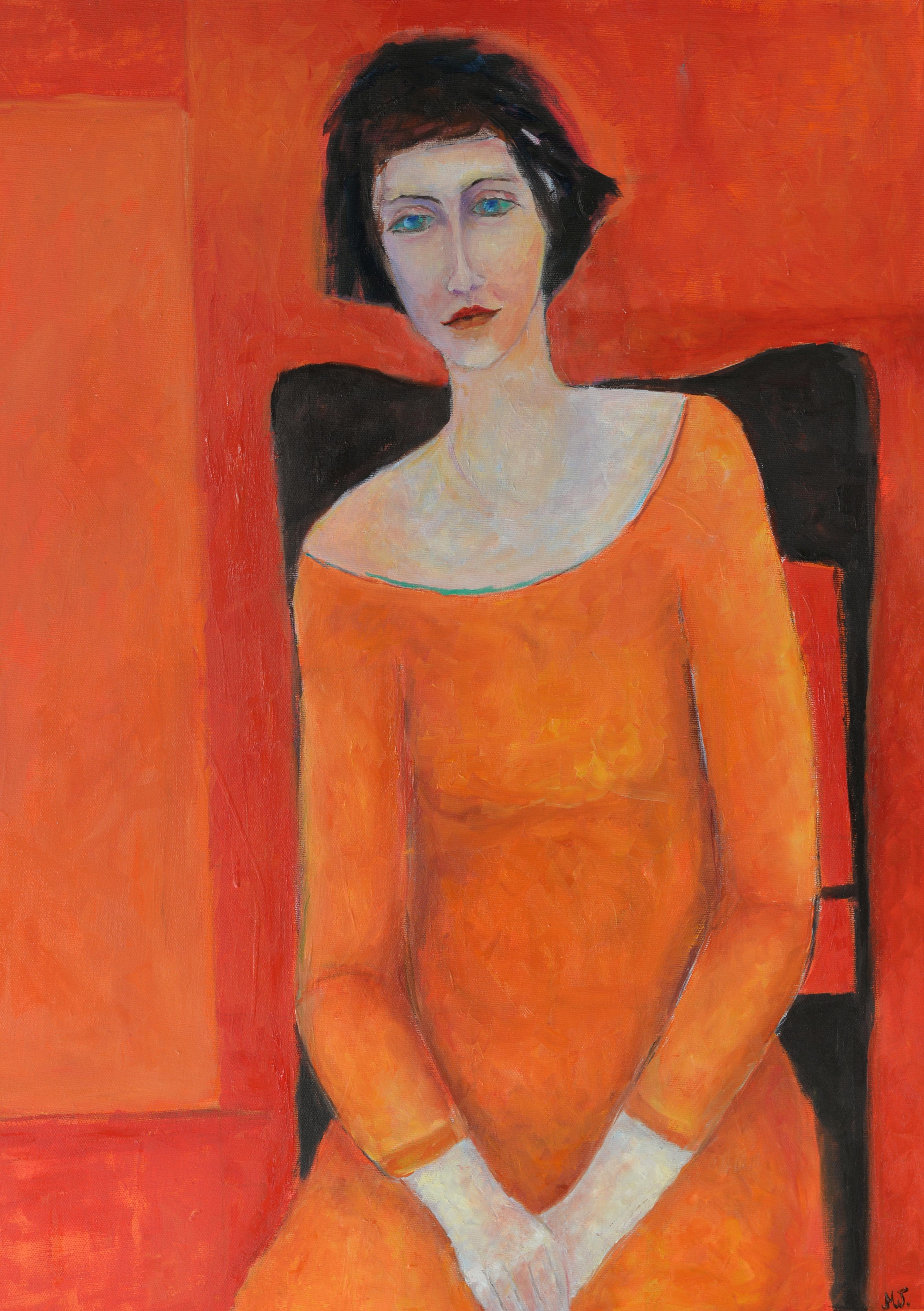 czerwony obraz na ścianę obrazy z kobietami