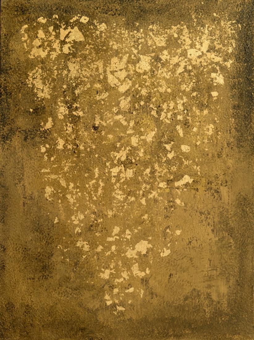 Obraz akrylowy abstrakcja Obraz złoty Black Gold II