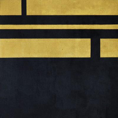 Obraz czarny w złote pasy, akryl na płótnie 60 x 80