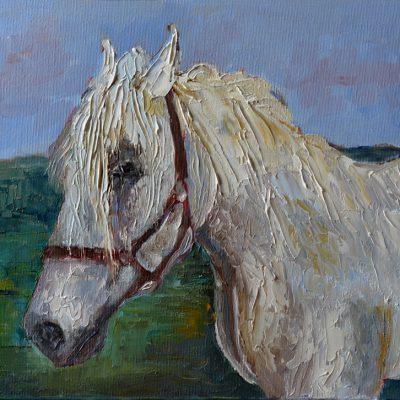 Obraz olejny koń ręcznie malowany 30 x 40