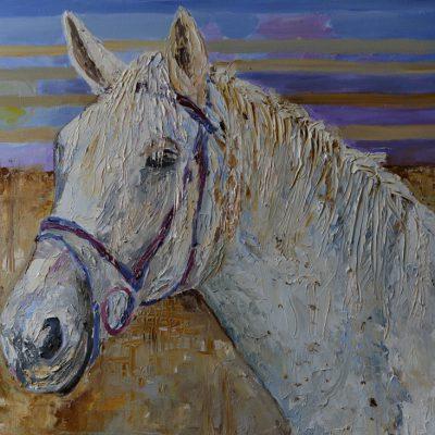 Obrazy z końmi do kupienia Obraz z fakturą