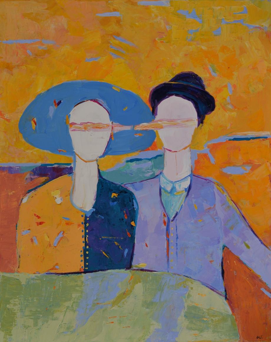 Obraz akrylowy na ścianę do salonu Mężczyzna i kobieta