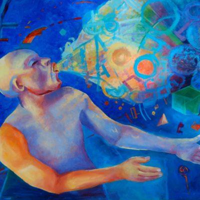 Obraz realizm magiczny Lucyfer 60 x 85