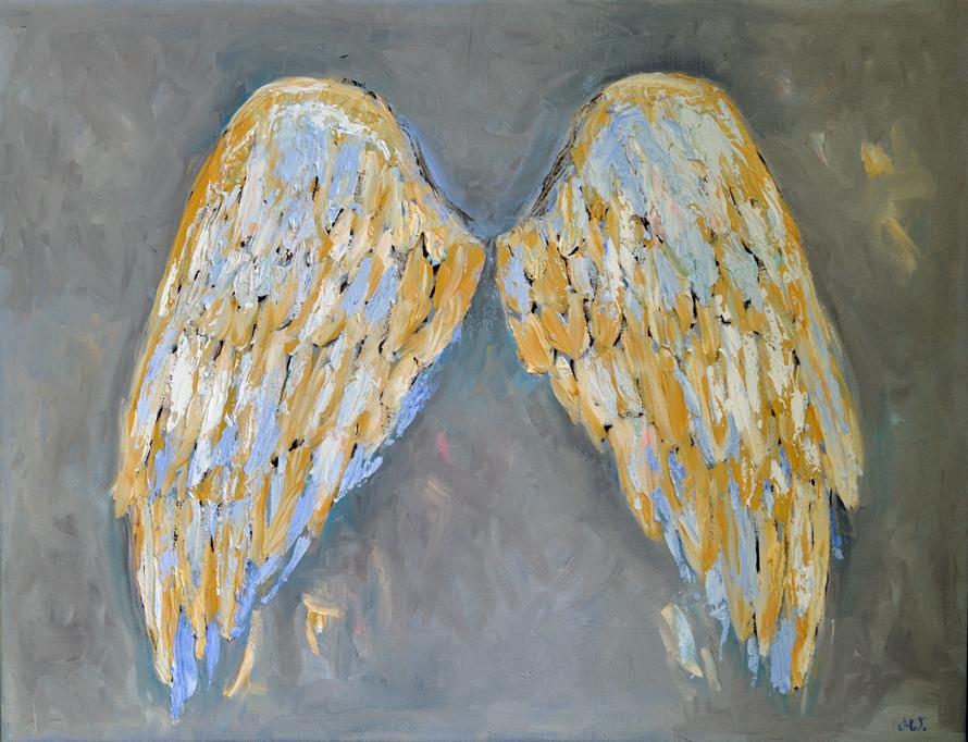 Skrzydła anioła dekoracja na ścianę obraz olejny