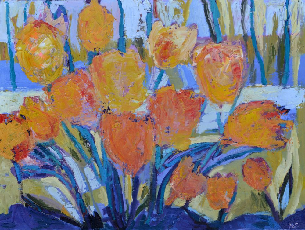 tulipany obrazy na płótnie