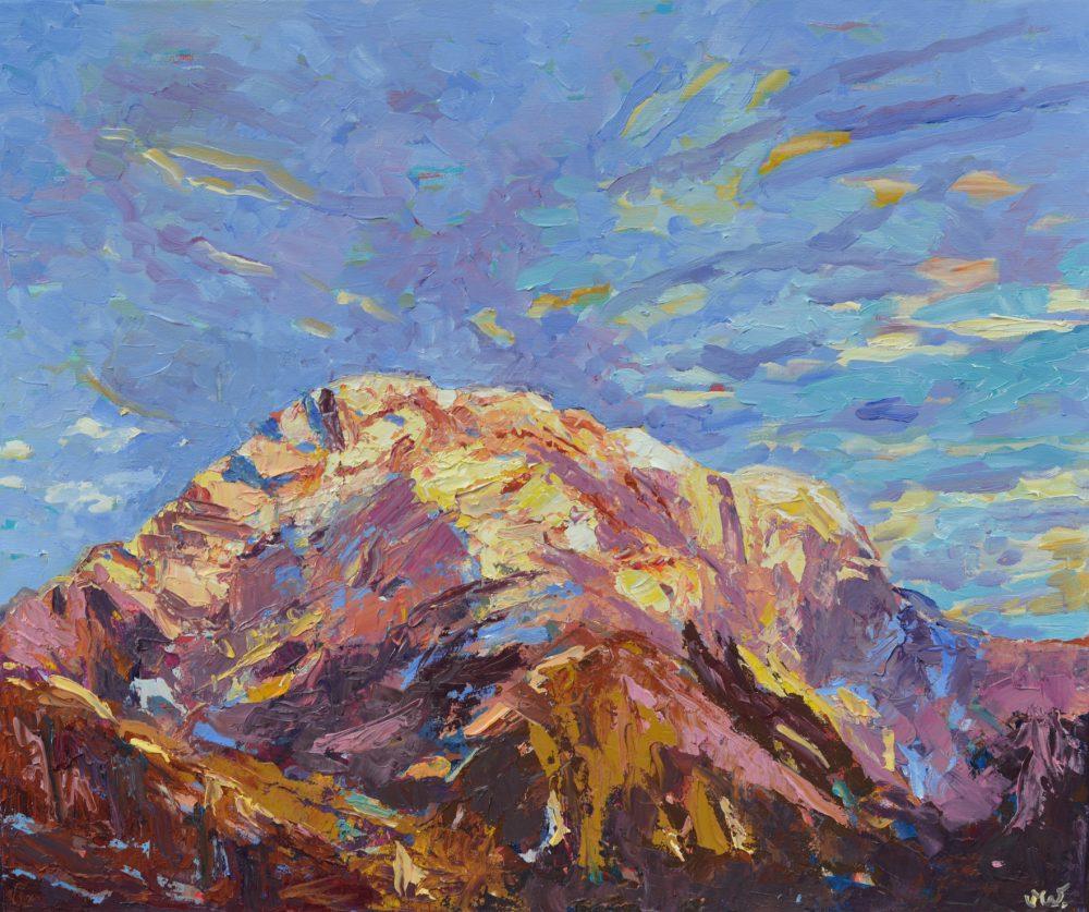 Obraz olejny himalajski - obraz olejny góry - Annapurna