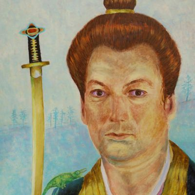 Motywy japońskie na ścianę obraz samuraj