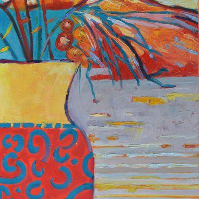 Obraz kwiaty do salonu malarstwo olejne