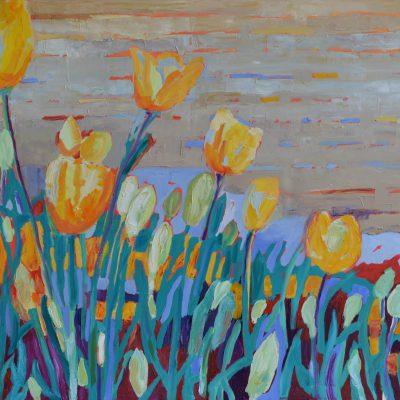Tulipany obraz olejny (2)