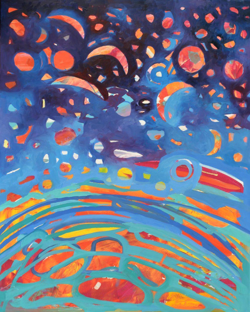kosmos obraz na płótnie na ścianę