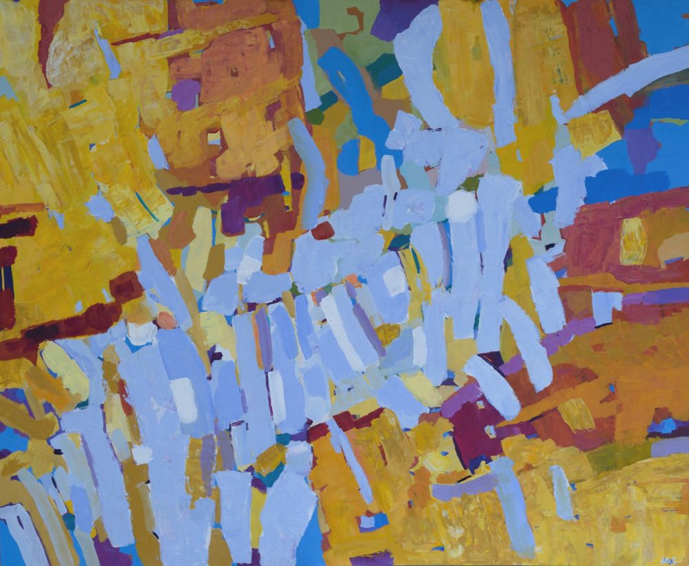 Modny obraz abstrakcyjny do salonu