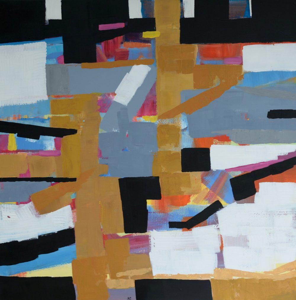 Piękny duży obraz abstrakcja na sprzedaż